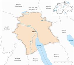Karte Gemeinde Zürich 2007