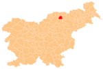 The location of the Municipality of Ribnica na Pohorju