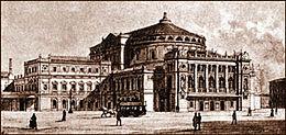 Veduta del Teatro Mariinskij, circa 1890.