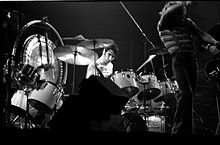Keith Moon playing the drums