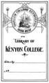 Kenyon College bookplate.png