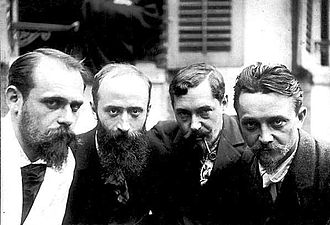 Félix Vallotton - Ker-Xavier Roussel, Édouard Vuillard, Romain Coolus, and Félix Vallotton in 1899