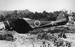 Nakajima Ki-43 - A downed Ki-43 of the 50th Sentai