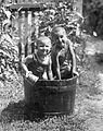 Kids, bathing, summer Fortepan 18904.jpg