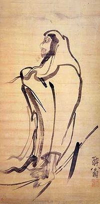 Kim Myeongguk-Bodhidharma crossing a river with a broken branch.jpg