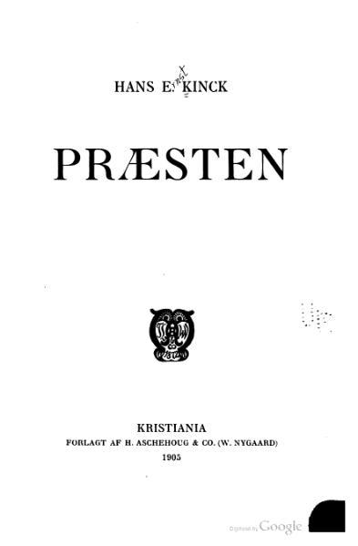 File:Kinck - Præsten.djvu
