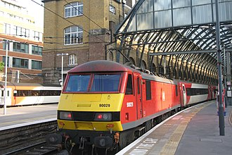 London North Eastern Railway - Image: Kings Cross DB Cargo 90029 on hire to VTEC