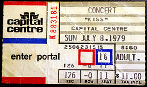 Kissology Volume Two: 1978–1991 -  Ticket from July 8, 1979 concert