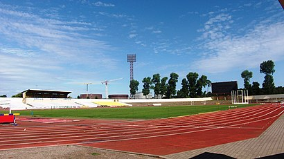 How to get to Klaipėdos centrinis stadionas with public transit - About the place