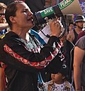 Klee Benally at Human Rights March 2012.jpg