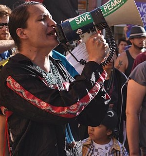 Klee Benally - Klee Benally at Human Rights March 2012