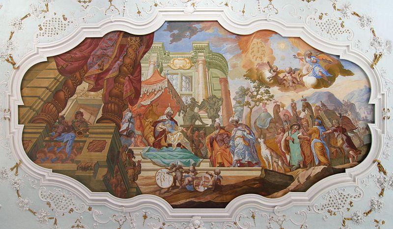 Kloster Bronnbach Josephsaal Deckenfresko 20090420 retouched