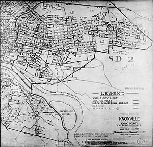 Map showing the 1940 census tracts of eastern ...