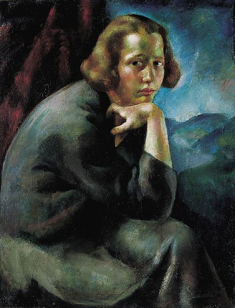 458px-Korb,_Erzsébet_-_Girl's_Portrait_(Thinker;_Contemplation)_ca_1923.jpg (458×600)