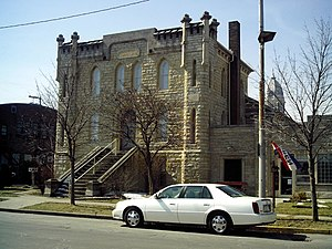 Kosciusko County Jail - Front and side of the Kosciusko County Jail, located at the intersection of Main and Indiana Streets in Warsaw, Indiana, United States.