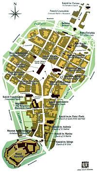 Mapa: Kraków