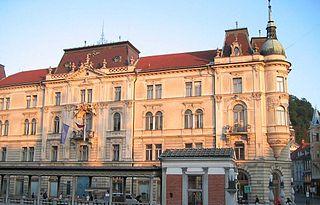 palace in Ljubljana