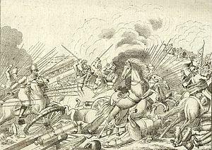 Battle of Altenburg - Battle of Altenburg engraved by Ant. Tessaro