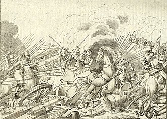Battle of Altenburg - Battle of Altenburg engraved by Ant. Tessaro
