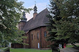 Beautiful Virgin Mary from Krużlowa - Wooden church in Krużlowa Wyżna