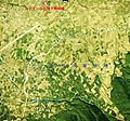 Kyodo River Alluvial fan written name of a place Aerial photographs.jpg