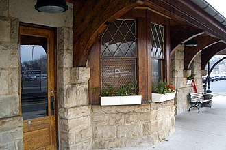 Little Silver, New Jersey - Little Silver train station agent's window