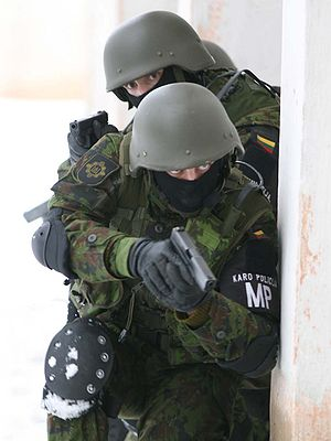 Lithuanian Military Police - Lithuanian military policemen during exercises
