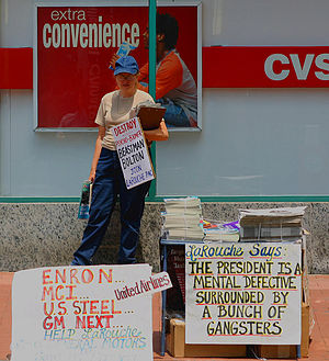 LaRouche movement - LaRouche supporter in Washington D.C., 2005