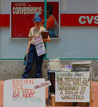 LaRouche movement - LaRouche supporter in Washington D.C., 2005