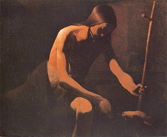 Vic-sur-Seille - Saint John the Baptist in the desert, Georges de La Tour, circa 1651.