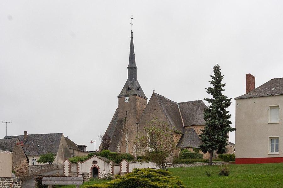 Church of La Chapelle-Craonnaise.