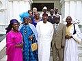 La famille Soumaré et le Président ATT (Touré) en 2011.JPG