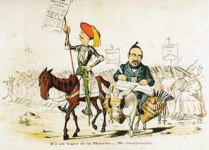 Glorious Revolution (Spain) - Satiric depiction of the Carlists (1869)