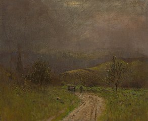 Autumn Landscape in the Early Evening