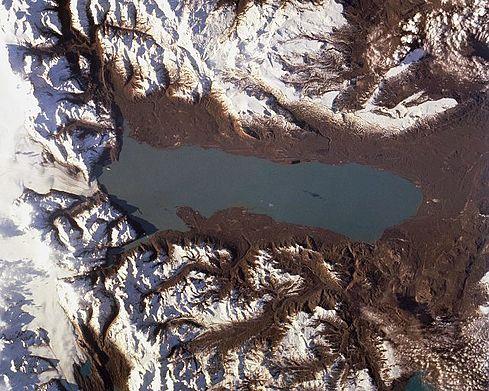 Vista satélite el Lago Viedma