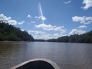Turuépano National Park - Image: Laguna de Ajies o caño de Ajies, Parque nacional Turuépano
