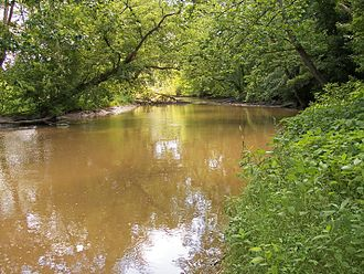 Lake Fork Mohican River - The Lake Fork downstream of the Mohicanville Dam in southeastern Ashland County, Ohio