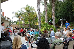 Donald P. Wagner - Assemblyman Wagner speaking at a town coffee meet at Lake Forest, CA.