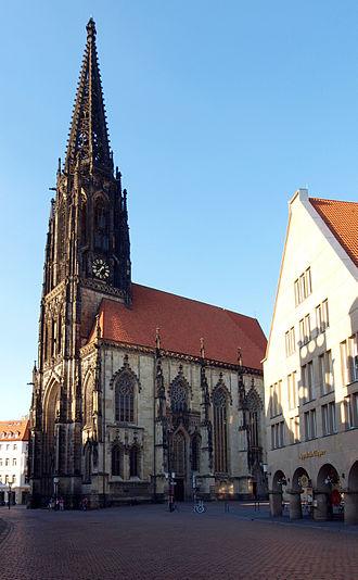 St Lambert's Church, Münster - The church from the Prinzipalmarkt