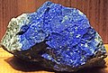 Lapis lazuli in pyritic limestone (Rio Tascadero Limestone, Lower Cretaceous; Flor de los Andes Mine, Andes Mountains, Chile) (49166160572).jpg