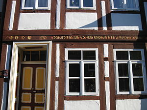 Lappenberg (Hildesheim) - House no. 3 with a Star of David above the entrance.
