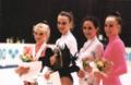 Larissa Loukianenko, Ekaterina Serebrianskaya, Maria Petrova y Amina Zaripova 1996 Budapest.png