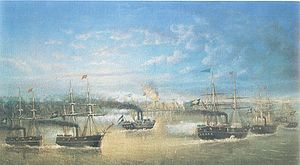 Battle of the Riachuelo - Battle of Cuevas