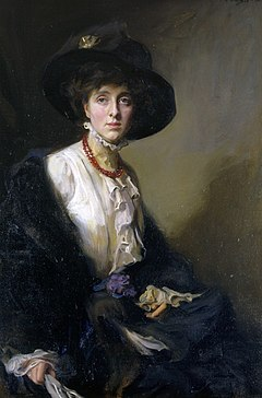 Vita Sackville-West, The Honorable Lady Nicolson. Målning av Philip de László 1910. Sissinghurst Castle.