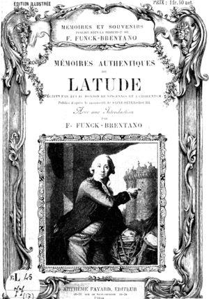 Jean Henri Latude - Cover of Mémoires authentiques de Latude