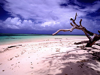 Micronesia - Beach scenery at Laura, Majuro, Marshall Islands
