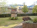 Lawn and Feature in Premiere Place, E14 - geograph.org.uk - 1495733.jpg