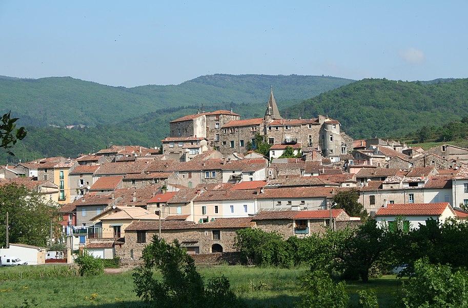 Le Poujol-sur-Orb (Hérault) - vue générale.