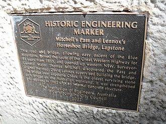 Lennox Bridge, Glenbrook - Image: Lennox horseshoe 2