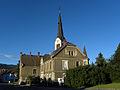 Leoben-Waasen - Alter Pfarrhof und Turm der Pfarrkirche Maria am Waasen.jpg